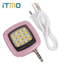 Itimo сотовый телефон Камера заполнить свет Мини 3.5 мм смартфон Портативный 16 светодиоды для iPhone IOS Android