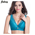 Julexy Sexy Brand big size 80/36-105/46 CD Women Bras push up  embroidery underwear young women lace brassiere1384