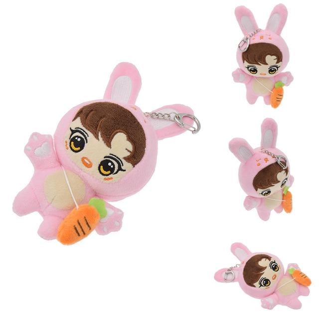 BTS Kpop bonito Animal de Pelúcia Bonecas Macias Clipe Keychain Brinquedo Chaveiro Fãs Caçoa o Presente de Natal Animais De Pelúcia
