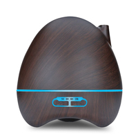 300ml Ultrasonic Air Humidifier Aroma Essential Oil Diffuser With 4 Timer Settings 7 Color Changing LED