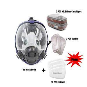 Image 2 - 15 in 1 Full Face Respirator Mask Set Safety Organic Vapor Gas Mask With Anti dust Respirator Paint Mask for Paint Chemicals Pes