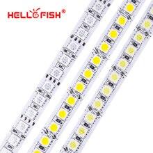 DC 12V LED şerit 5054 5050 5m 600 LED 12V esnek LED bant ışık 120 led/m beyaz aydınlatma işık sıcak beyaz RGB