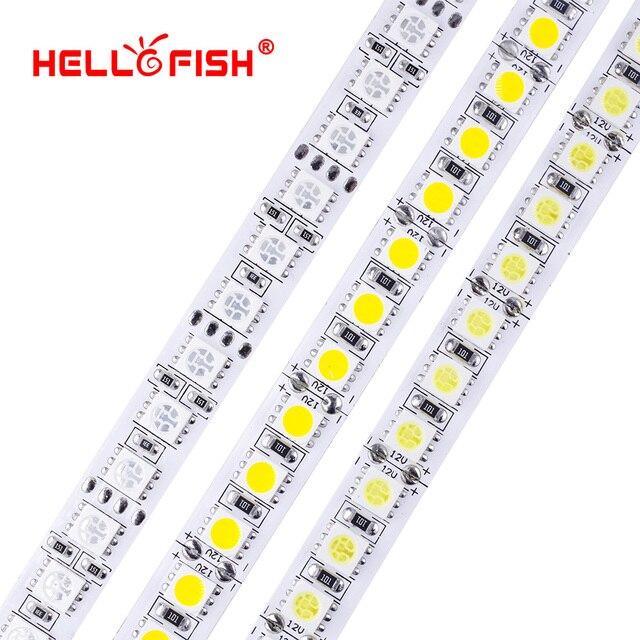 Fita de led dc 12v, 5054 5050 5m 600 led 12v flexível 120 led/m iluminação branca luz branca quente rgb