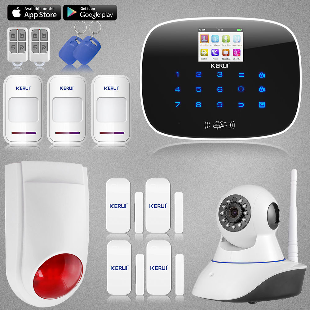 NEW KERUI G19 GSM SMS call RFID Home House Burglar Alarm System font b Security b