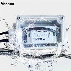 Image 5 - Sonoff IP66 עמיד למים תיבה לצומת עמיד למים מקרה מים עמיד מעטפת תמיכה Sonoff בסיסי/RF/כפולה/Pow עבור חג המולד עץ אורות
