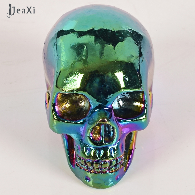 2 Inch Turquoise Crystal Healing Carved Stone Human Skull Fantasy
