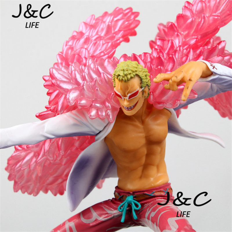 Free Shipping Hot Sale 19CM One Piece Anime Model stand Donquixote Doflamingo action figure toys Christmas toys hot sale super mario brothers nintendo 3ds dsi ds lite holder 12 action figure new f4f for christmas gifts free shipping