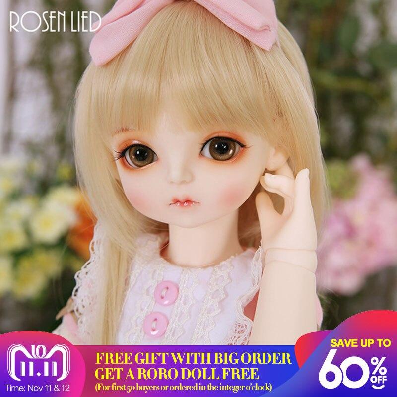 все цены на Rosenlied RL Holiday Momo 1/4 BJD SD Doll High Quality Toys Free Eyes Shop Resin Body Model Boys Girls Oueneifs Fullset