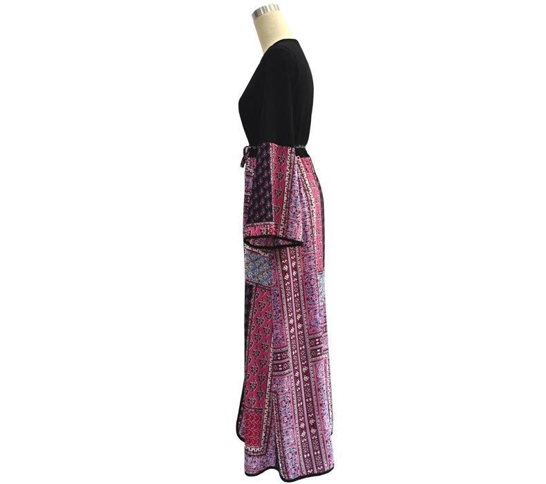 Vintage Women Abaya Turkish Robe Big Size 5XL Muslim Cardigan Dress Patchwork Turkish Islamic Women Clothing