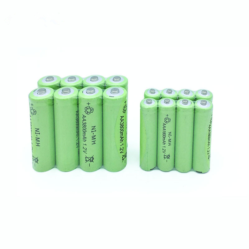 10x AA 3800mAh OR 10x AAA 1800mAh 1.2V NiMH Green Rechargeable Battery Cell 2A 3A For Flash Light, Toys Battery цена