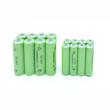 10x AA 3000mAh + 10x AAA 1800mAh 1.2V NiMH Green Rechargeable Battery Cell 2A 3A  For Flash Light, Toys  Battery 10x aa 3000mah 10x aaa 1800mah 1 2v nimh green color rechargeable battery cell 2a 3a for flash light toys battery