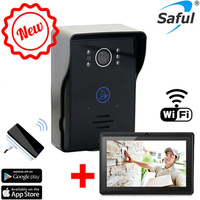 Hot wireless wifi video door phone intercom+indoor doorbell +7tablet wifi doorbell camera system with night vision
