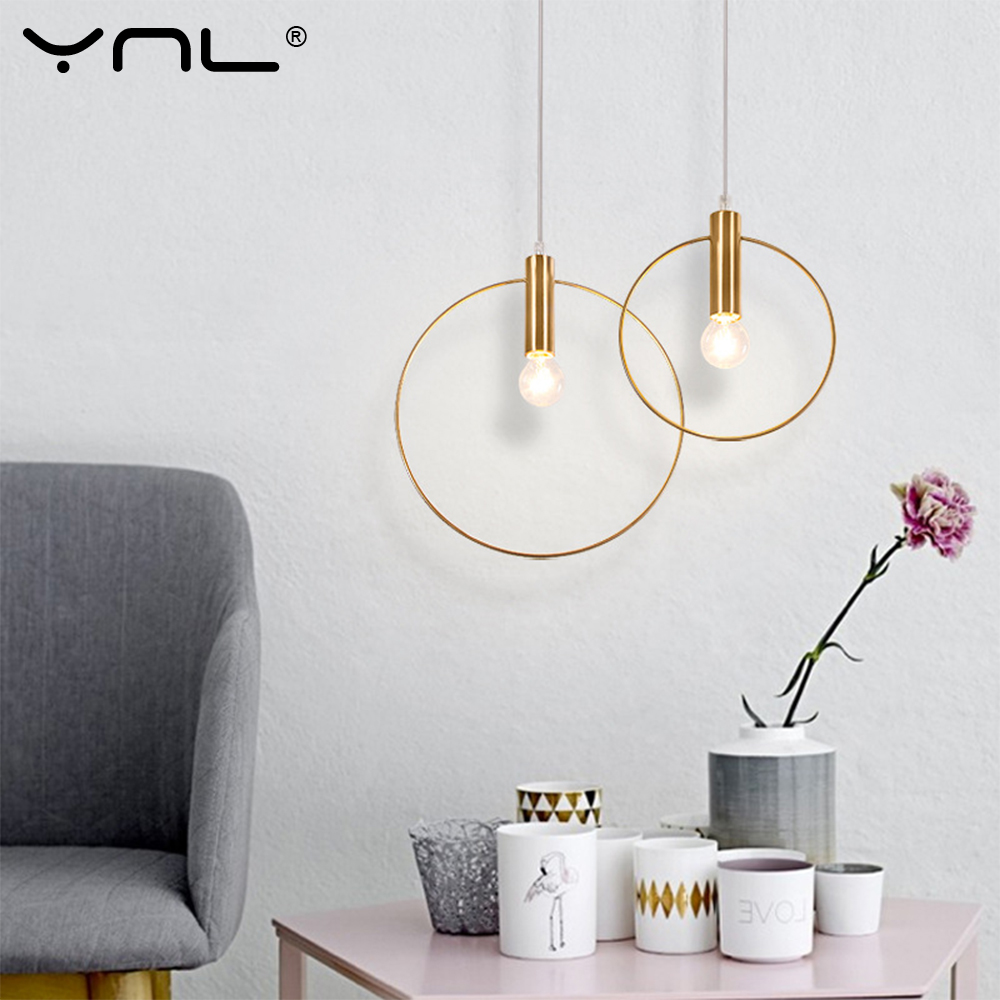 Luminaria Lustres E Pendentes Para Sala De Jantar Single Ring Pendant Lights Hanglamp Modern Industrial Decor Vintage Light