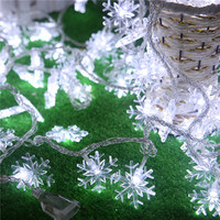 Christmas decoration lamp series supplies outdoor LED lights flashing light snow arrangement 10 meters 100 snowflakes hanging