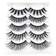 5 Pairs 3D False Eyelashes Thick Natural Long Lashes Reusable Dramatic Fake Makeup Essential Tool