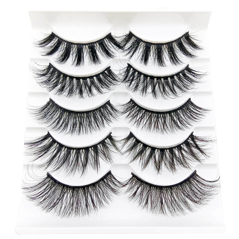 5 <font><b>Pairs</b></font> 3D False <font><b>Eyelashes</b></font> Thick Natural Long Lashes Reusable Dramatic Fake <font><b>Eyelashes</b></font> Makeup Essential Tool image