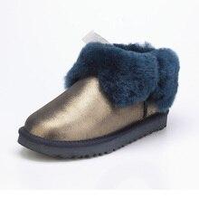 Australia sheep fur one snow boots women short boots / winter flat flat bottom custom boots / free shipping