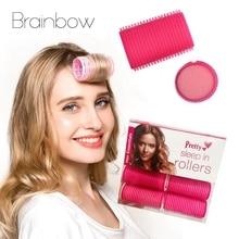 Hair-Rollers Curl Sponge Salon Self-Grip Soft-Foam Brainbow Big DIY Any-Size 6pcs/Pack