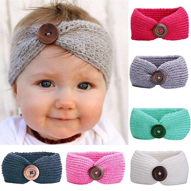 3f383237f4c 1-5 years Winter Wool Crochet Turban Headbands Kids Outdoor Hair Band Head  Wrap Headband Headwear Children Girls Hair Accessorie