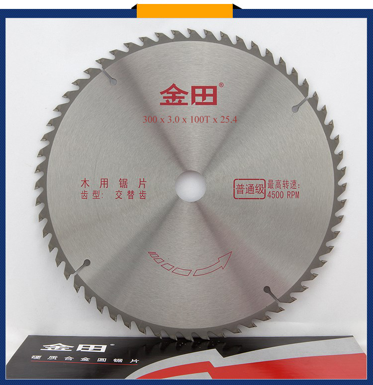 300 x 3.0 x 100T x 25.4 TCT woodworking wood cutting disc saw blades 12