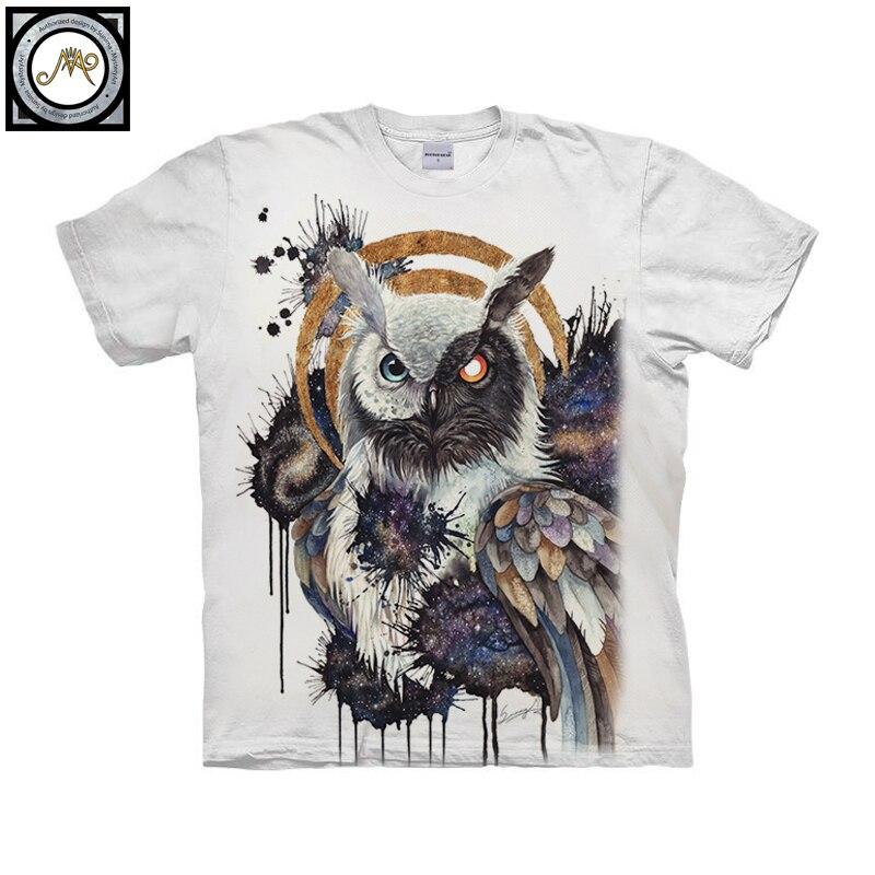 Yin yang owl By Brizbazaar Art Unisex T shirt 3D Print Tees Tops Harajuku Mens Camiseta Short Sleeve Streetwear t shirt Male
