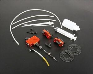 Roda dianteira conjunto de freio a disco hidráulico para 1/5 hpi km rovan baja 5b 5 t 5sc rc carro atualização peças
