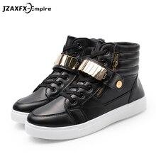 Men High Top Casual Shoes Men Spring Fashion Boots Lace-up Brand Trainers Metal Sheets Shoes Zapatillas Hombre недорго, оригинальная цена