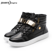Men High Top Casual Shoes Men Spring Fashion Boots Lace-up