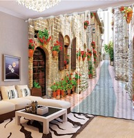 3D Photo Portrait Printing Blackout Curtains For Living room Bedding room Hotel Drapes Cortinas European Alley