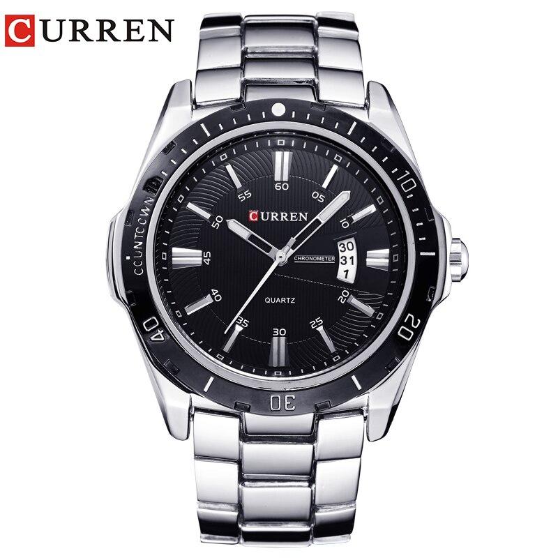 Новый curren Часы мужские топ модного бренда часы кварцевые часы мужской relogio masculino мужские армейские Спорт Аналоговый Повседневное 8110