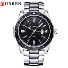 Novo curren relógios masculinos marca de topo moda relógio quartzo masculino relogio masculino esportes do exército analógico casual 8110