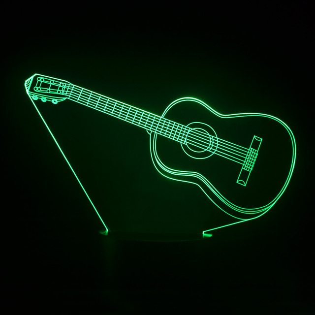 Colorful 3d visual lights guitar table lamp childrens nightlight colorful 3d visual lights guitar table lamp childrens nightlight led night lights methacrylate plate lamparas bedside aloadofball Image collections