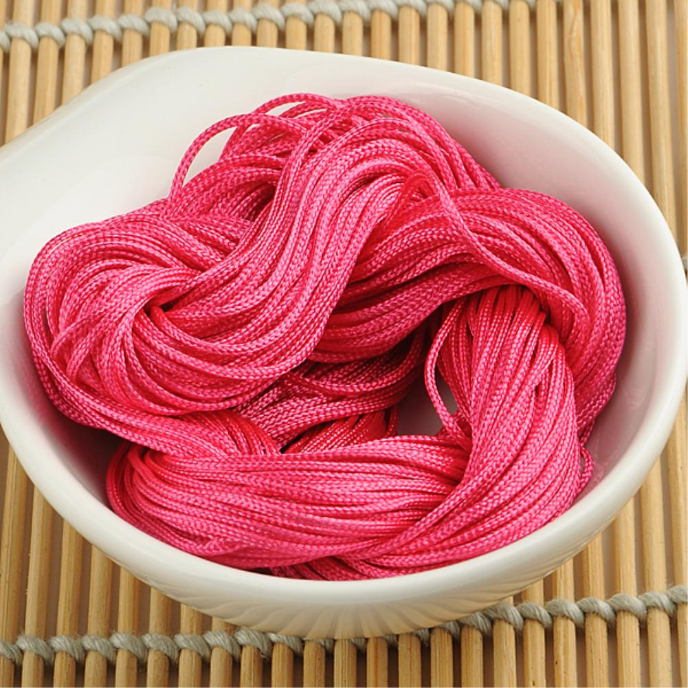 WITUSE 11 11 Promotion Sale 1mm Macrame Rattail Chinese Knotting Weave Nylon Beading Rosy Jewelry Cord Thread 22m in Cords from Home Garden