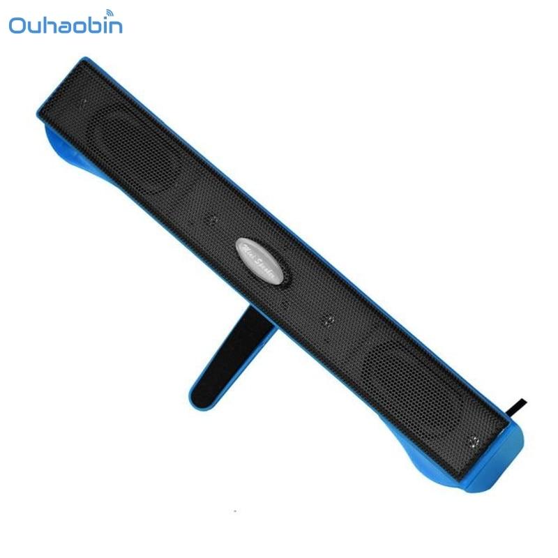 2017 HOT New Fashion USB Mini Speaker Music Player for Computer Desktop PC Notebook Laptop Speaker ABS Lightweight Set19