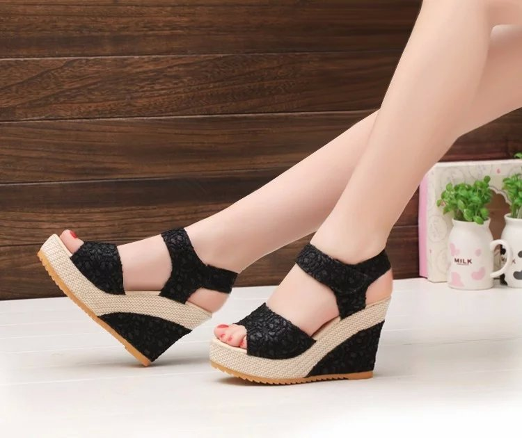 f0f6147f978 Hot Sale Elegant Women Shoes Summer High Heeled Sandals Summer Shoes For  College Girls Platform Sandals Shoes Women-in Women s Sandals from Shoes on  ...