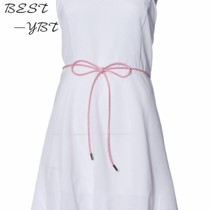 New Version Of The Classic Wild Female Minimalist Thin Belt Waist Chain Women's Belt Women's Fashion Belt Leather Small