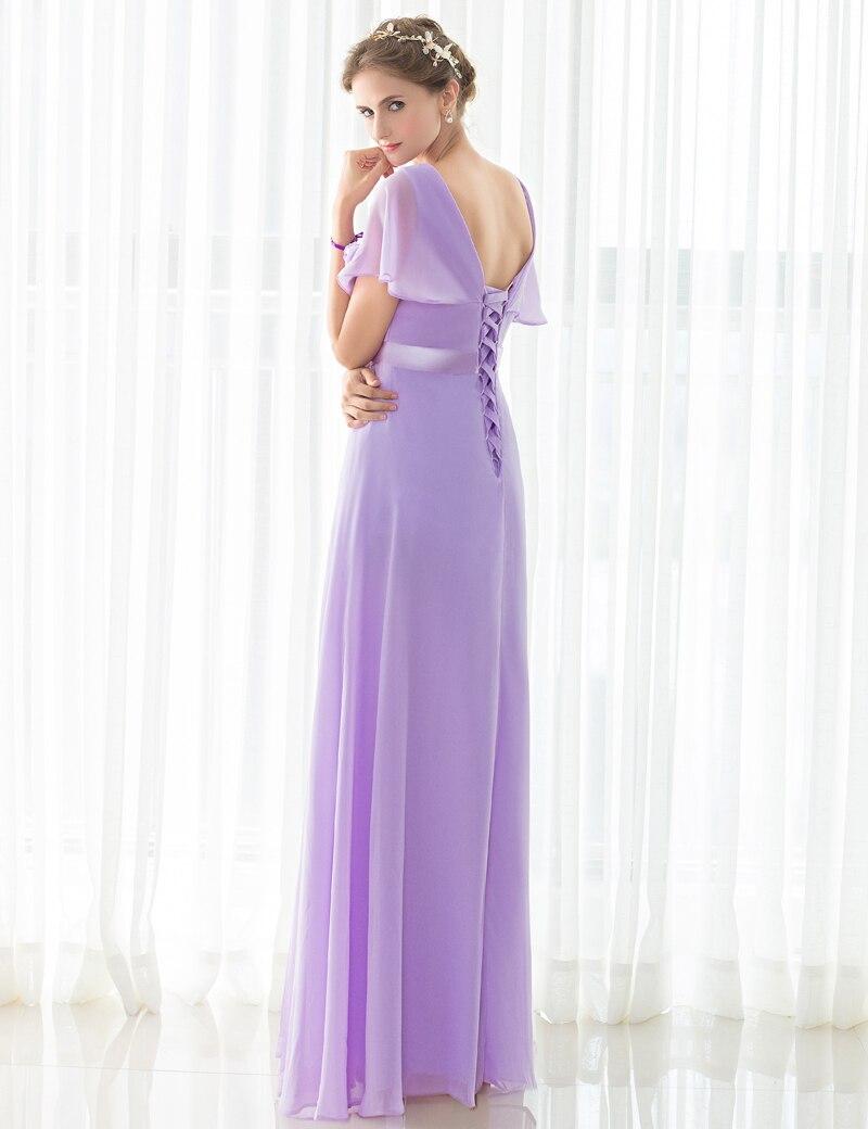 Vistoso Larga De Gasa Vestidos De Dama De Coral Foto - Vestido de ...