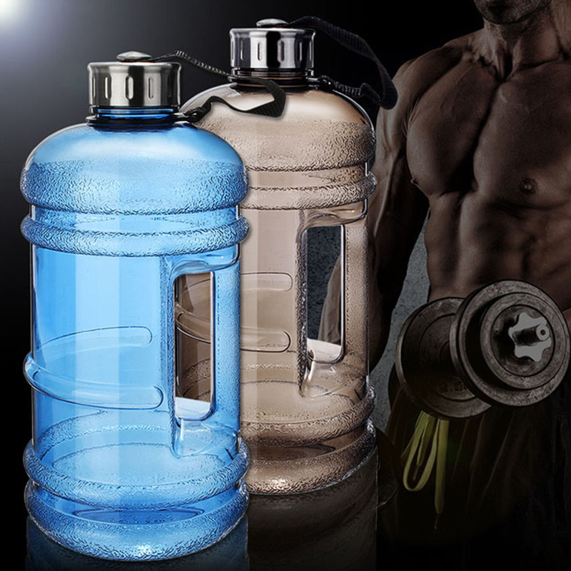 2 2L Large Capacity Water Bottles Outdoor Sports Gym Half Gallon Fitness Training Camping Running Workout