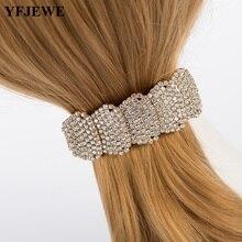 ФОТО yfjewe  fashion crystal manmade tiara wedding hair wear silver\gold color hair accessory  hairwear bridal jewelry h065