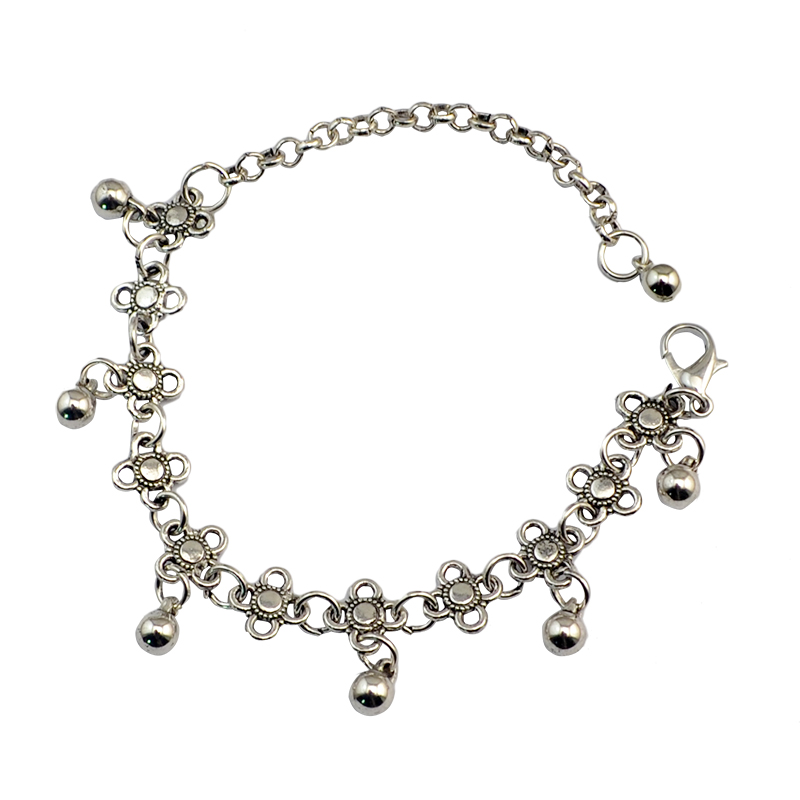 Silver 925 Plated Bell Gypsy Indian Bracelet Beautiful  Jewellery UK