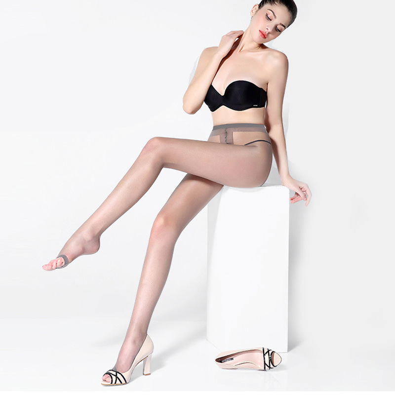 Women Stockings Thin Sexy Stockings Tights Seamless Pantyhose Super Elastic Fish Mouth Pantyhose Toe Tight Stockings Hosiery