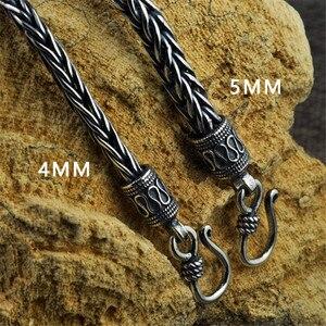 Image 5 - V.YA 4MM 5MM Thai Silver Male Bracelets 100% 925 Sterling Silver Snake Chain Bracelet for Men Vintage Style Fine Jewelry