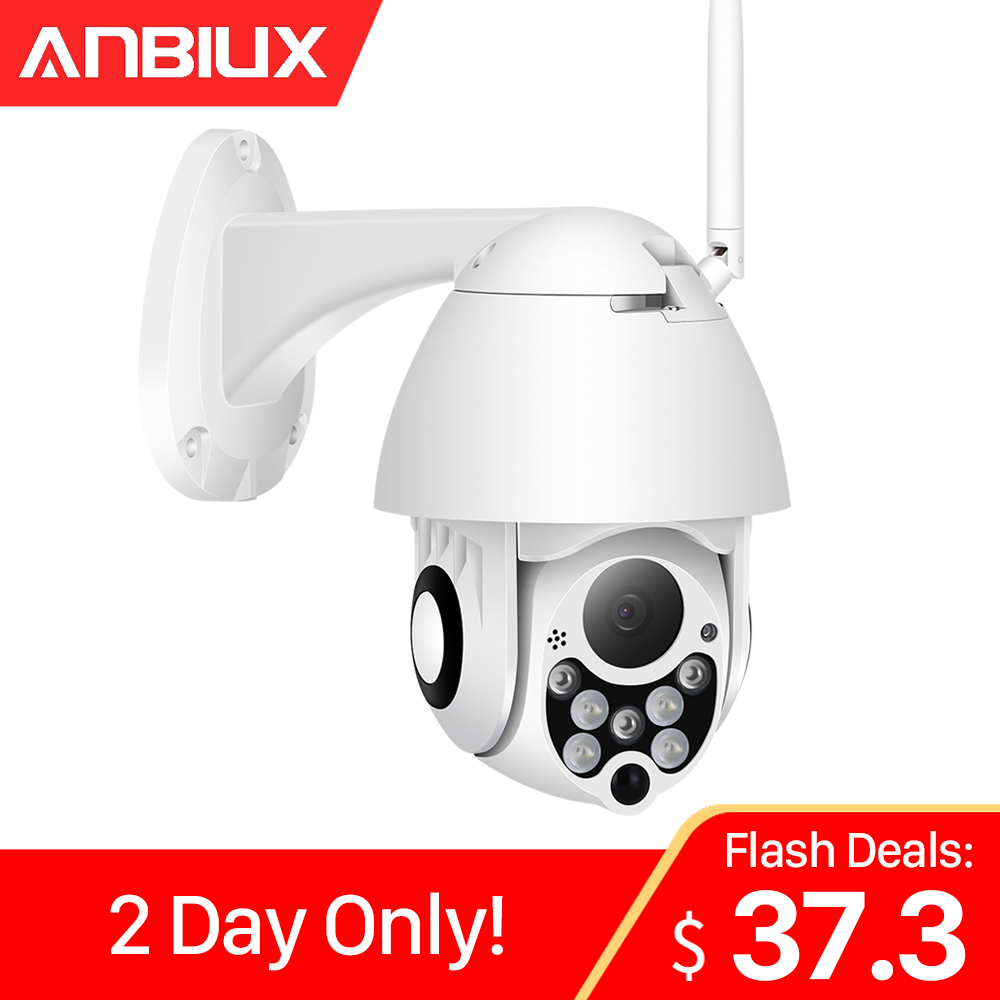ANBIUX 1080P PTZ IP Camera Outdoor Speed Dome Wireless Wifi Security Camera 2MP Pan Tilt 4X