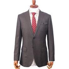 Деловые мужские костюмы с узором в горошек на заказ, Классические свадебные костюмы для мужчин, шерстяной костюм, смокинги для мужчин