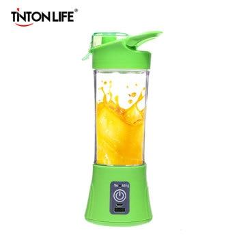 TINTON LIFE USB Charging Mode Portable Charging Treasure Function Small Juicer Blender Egg Whisk Fruits Mixer Blenders