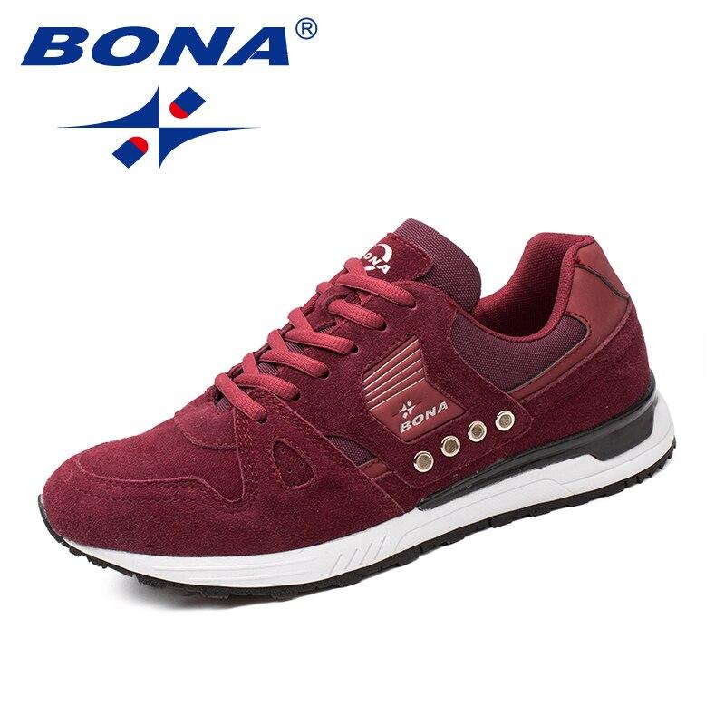 BONA nouveaux classiques Style hommes chaussures de course en daim hommes chaussures de sport à lacets hommes chaussures de Jogging baskets de plein air livraison gratuite rapide - 2