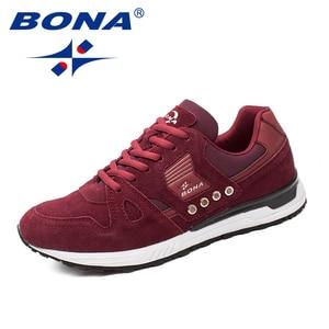 Image 2 - BONA החדש קלאסיקות סגנון גברים ריצה נעלי זמש גברים נעלי ספורט תחרה עד גברים נעלי ריצה חיצוני סניקרס מהיר משלוח חינם