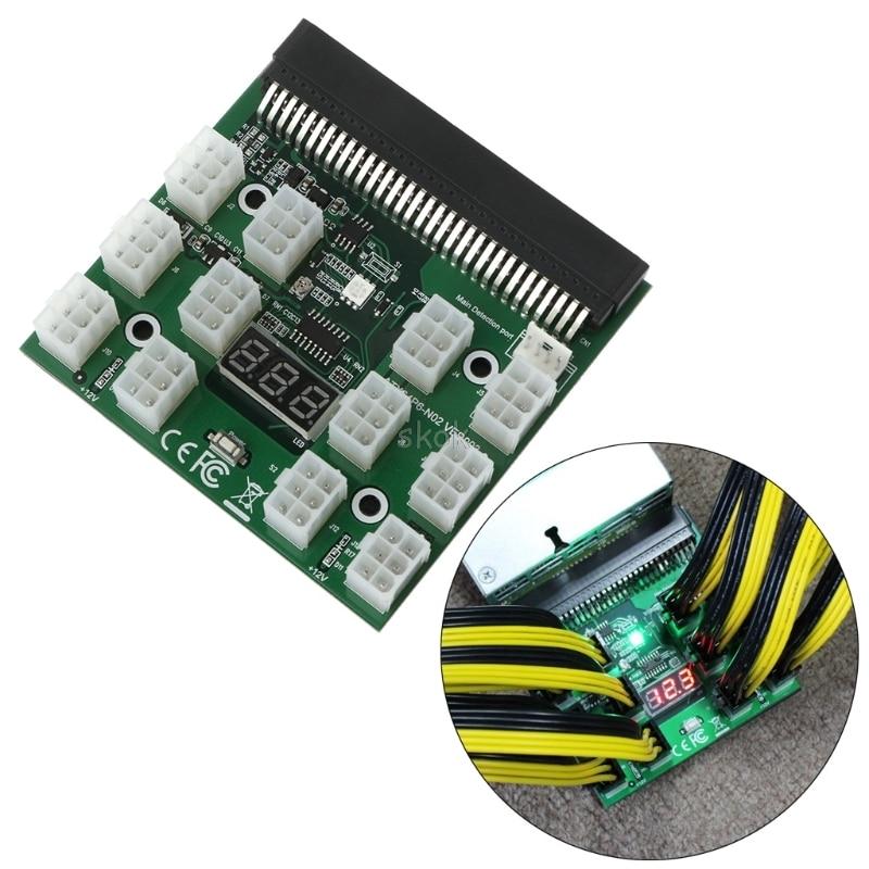 PCI-E 6Pin Breakout Board 1200W/750W 12V For (1200W) GPU Mining Power Supply Breakout Board A19 dropshipping