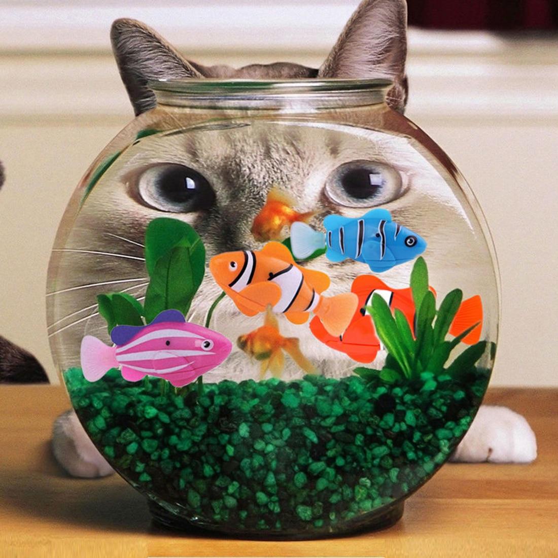 Aquarium fish tank cheap - Latest Robofish Activated Battery Powered Robo Fish Toy Fish Robotic Fish Tank Aquarium Ornaments Decorations