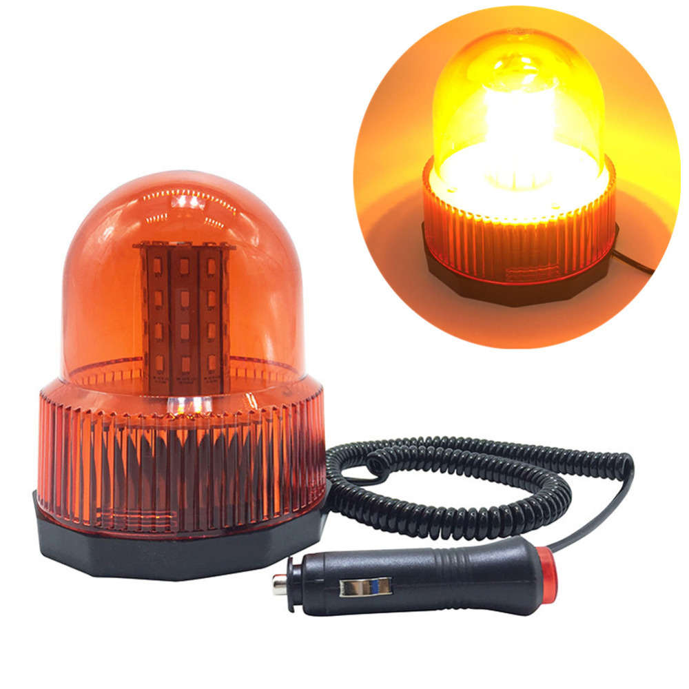 Red Yellow Blue color car Vehicle Police LED Strobe rotating flashing  Warning light Emergency Lights Beacon Magnetic Mounted